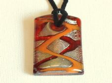 Chunky lampwork pendant necklace